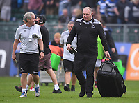 25th September 2021; The Recreation Ground, Bath, Somerset, England; Gallagher Premiership Rugby, Bath versus Newcastle Falcons; Dean Richards Director of Rugby for Newcastle Falcons looks pleased with the match result