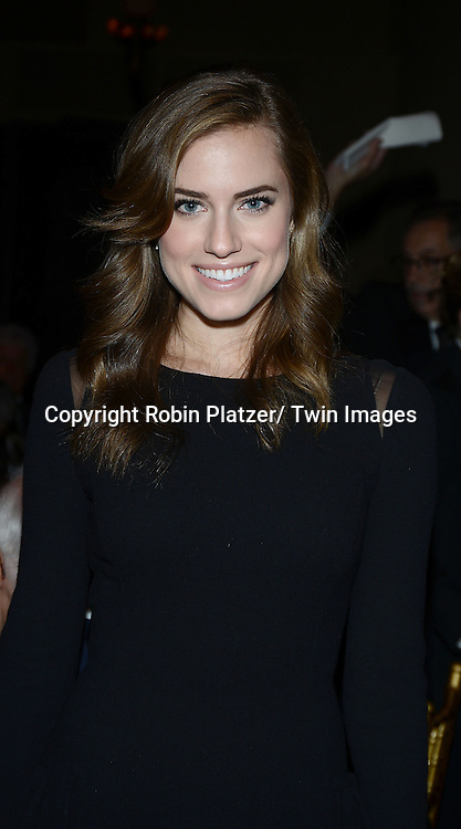 Allison Williams attend the 11th Annual Giants of Broadcasting Luncheon<br /> presented by the Library of American Broadcasting on <br /> October 16, 2013 at Gotham Hall in New York City