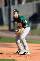 Siena Saints infielder Brian Fay #28 during practice before a game against the Central Florida Knights at Jay Bergman Field on February 16, 2013 in Orlando, Florida.  Siena defeated UCF 7-4.  (Mike Janes/Four Seam Images)