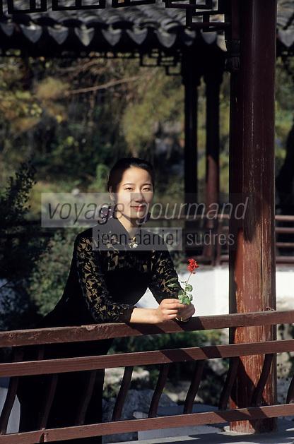 Asie/Chine/Jiangsu/Env Nankin: Jardin de Contemplation - La résidence du Roi de l'Est et chinoise dans les jardins<br /> PHOTO D'ARCHIVES // ARCHIVAL IMAGES<br /> CHINE 1990