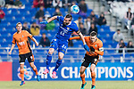 Ulsan Hyundai Forward Ivan Kovacec (L) fights for the ball with Brisbane Roar Midfielder Matt Mckay (L) during the AFC Champions League 2017 Group E match between Ulsan Hyundai FC (KOR) vs Brisbane Roar (AUS) at the Ulsan Munsu Football Stadium on 28 February 2017 in Ulsan, South Korea. Photo by Victor Fraile / Power Sport Images