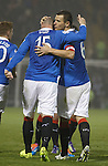 Lee McCulloch with Kris Boyd after scoring from the spot