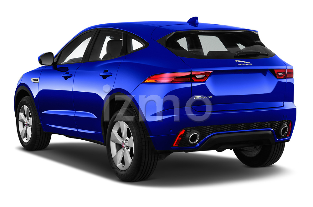 Car pictures of rear three quarter view of a 2019 Jaguar E-PACE R-Dynamic S 5 Door SUV angular rear