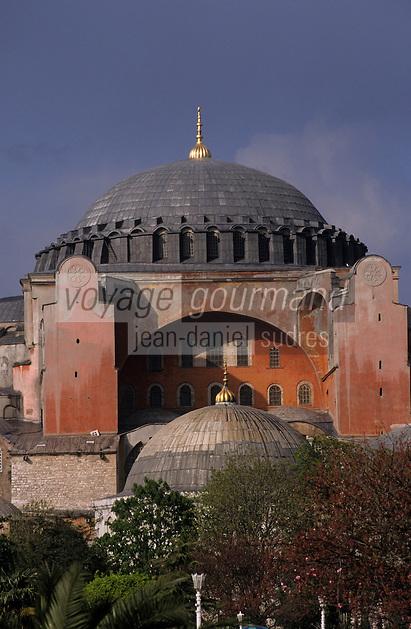 Europe/Turquie/Istanbul : Basilique Sainte-Sophie (Architecture byzantine)