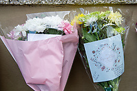 Pictured: Flowers left outside the Smith Arms pub on Main Road, Neath Abbey, Skewen area of Neath, South Wales, UK. Monday 02 September 2019<br /> Re: Six teenagers have been arrested after a man died in Neath Port Talbot.<br /> The 58-year-old victim was attacked on Main Road, Neath Abbey at about 00:55 BST on Sunday.<br /> South Wales Police said six boys, aged between 14 and 17, remained in custody but did not say what they were being held on suspicion of.