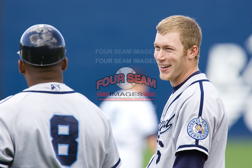 June 22, 2008: Matt Antonelli of the Portland Beavers during a Pacific Coast League game against the Tacoma Rainiers at Cheney Stadium in Tacoma, Washington.