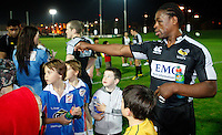 Photo: Richard Lane/Richard Lane Photography. London Wasps in Abu Dhabi for their LV= Cup game against Harlequins on 30st January 2011. 26/01/2011. Wasps' Serge Betsen signs autographs after training at the Zyaid Sports City.