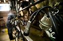 15/02/17 - COURNOLS - PUY DE DOME - FRANCE - GAEC des Coustilles. La salle de traite - Photo Jerome CHABANNE