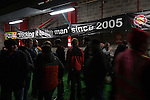 © Joel Goodman - 07973 332324 . 14/11/2015 . Manchester , UK . Fans in the bar at half-time . FC United host Gainsborough Trinity in the National League North at Broadhurst Park . NB requested changing room access three times and was denied three times . Photo credit : Joel Goodman