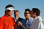 PALM BEACH GARDENS, FL. - Y.E. Yang interview after winning the 2009 Honda Classic - PGA National Resort and Spa in Palm Beach Gardens, FL. on March 8, 2009.