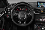 Car pictures of steering wheel view of a 2018 Audi Q3 Premium 5 Door SUV