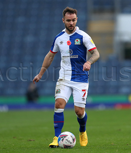 7th November 2020; Ewood Park, Blackburn, Lancashire, England; English Football League Championship Football, Blackburn Rovers versus Queens Park Rangers; Adam Armstrong of Blackburn Rovers runs with the ball at his feet
