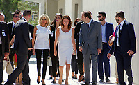 Pictured: Brigitte Macron and Betty (Peristera) Baziana at the Acropolis in Athens, Greece. Thurday 07 September 2017<br /> Re: Brigitte Macron, the wife of French President Emmanuel Macron, was given a tour of the Acropolis by Betty (Peristera) Baziana, the wife of Greek Prime Minister ALexis Tsipras during their state visit to Athens, Greece.
