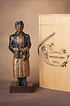 """French champagne company, Perrier Jouet, uses this stunning bronze limited edition sculpture named """"Gaston"""" as their biennial award to the top sommeliers who are named """"best in the world"""".<br /> <br /> 16 inches with 5.5 inch square base, """"Gaston"""" was made by La Monnaire de Paris (The Paris Mint)<br /> <br /> Not available at this time."""