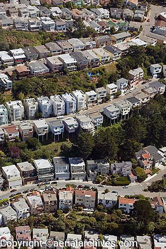 aerial photograph Diamond Heights residential neighborhood San Francisco California
