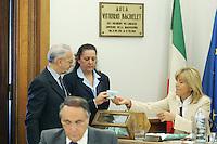Michele Vietti eletto Vice Presidente del CSM durante il voto.CSM - Consiglio Superiore della Magistratura (Plenum) .Nomina del Vice Presidente.Roma, 2 Agosto 2010.Photo Serena Cremaschi Insidefoto