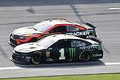#1: Kurt Busch, Chip Ganassi Racing, Chevrolet Camaro Monster Energy #19: Martin Truex Jr., Joe Gibbs Racing, Toyota Camry Bass Pro Shops