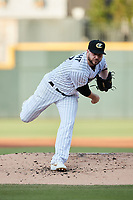 Charlotte Knights starting pitcher Mike Wright (12) in action against the Nashville Sounds at Truist Field on June 4, 2021 in Charlotte, North Carolina. (Brian Westerholt/Four Seam Images)