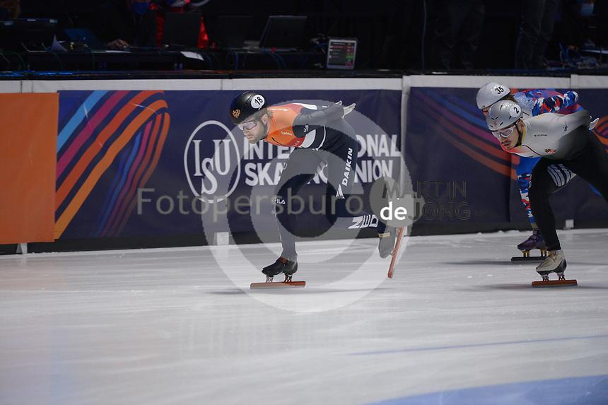 SPEEDSKATING: DORDRECHT: 07-03-2021, ISU World Short Track Speedskating Championships, Final A 5000m Relay, Daan Breeuwsma (NED), ©photo Martin de Jong