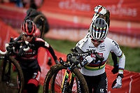 cx world champion Ceylin del Carmen Alvarado (NED/Alpecin-Fenix) on her way to winning the 2021 UCI CX World Cup in Overijse (BEL)<br /> <br /> Vlaamse Druivencross<br /> <br /> Women's Race<br /> <br /> ©kramon