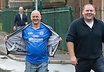 Glentoran v St Johnstone…. 09.07.16  The Oval, Belfast  Pre-Season Friendly<br />Craig Young (left) and Colin Barnett arrive at The Oval in Belfsat<br />Picture by Graeme Hart.<br />Copyright Perthshire Picture Agency<br />Tel: 01738 623350  Mobile: 07990 594431