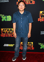 """CENTURY CITY, CA, USA - SEPTEMBER 27: Masi Oka arrives at the Los Angeles Screening Of Disney XD's """"Star Wars Rebels: Spark Of Rebellion"""" held at the AMC Century City 15 Theatre on September 27, 2014 in Century City, California, United States. (Photo by Celebrity Monitor)"""