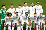 Real Madrid's team photo with Keylor Navas, Sergio Ramos, Toni Kroos, Raphael Varane, Karim Benzema, Cristiano Ronaldo, Marcelo Vieira, Isco, Daniel Carvajal, Casemiro and Luka Modric during La Liga match. October 4,2015. (ALTERPHOTOS/Acero)