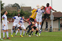Tobi Joseph scores the first goal for Hornchurch - AFC Hornchurch vs Billericay Town - Ryman League Premier Division Football at The Stadium, Bridge Avenue - 06/04/15 - MANDATORY CREDIT: Gavin Ellis/TGSPHOTO - Self billing applies where appropriate - contact@tgsphoto.co.uk - NO UNPAID USE