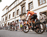 Joan Bou (ESP) Euskaltel-Euskadi heads sign on before Stage 19 of La Vuelta d'Espana 2021, running 191.2km from Tapia de Casariego to Monforte de Lemos, Spain. 3rd September 2021.    <br /> Picture: Cxcling   Cyclefile<br /> <br /> All photos usage must carry mandatory copyright credit (© Cyclefile   Cxcling)