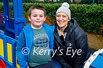 Enjoying the playground in the Killarney National park on Friday, l to r: Little Oisin and Sarah Doherty
