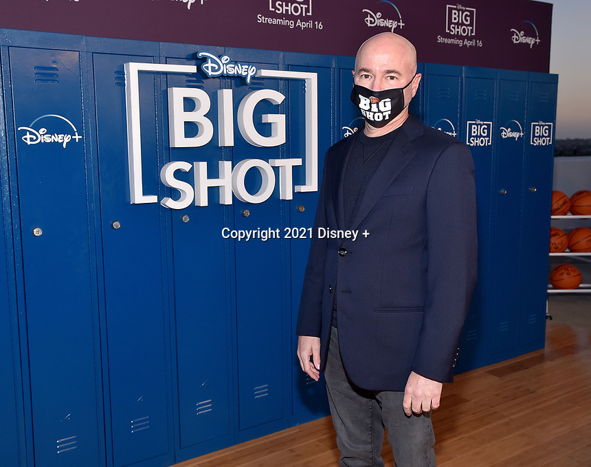 """LOS ANGELES, CA - APRIL 14: Executive Producer Dean Lorey attends the world premiere drive-in screening of the Disney + original series """"BIG SHOT"""" at The Grove in Los Angeles, California on April 14, 2021. (Photo by Stewart Cook/Disney +/PictureGroup)"""