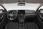 Stock photo of straight dashboard view of 2020 Hyundai i30-Fastback Sky 5 Door Hatchback Dashboard