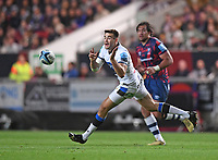 1st October 2021;  Ashton Gate Stadium, Bristol, South Gloucestershire, England; Gallagher Premier League rugby, Bristol Bears versus Bath Rugby: Will Muir of Bath passes down the line