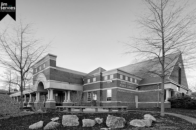 Fountain City Library 2014 (bw) by Jim Servies Photography