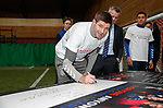 19.02.2020 Rangers fan charter: Rangers fans, management and directors sign up to a fans charter. Steven Gerrard adds his name