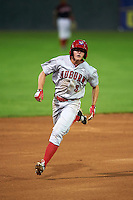 Auburn Doubledays outfielder Andrew Stevenson (3) running the bases during a game against the Batavia Muckdogs on July 8, 2015 at Dwyer Stadium in Batavia, New York.  Batavia defeated Auburn 4-1.  (Mike Janes/Four Seam Images)