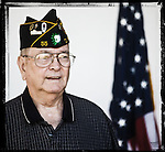 Veteran Sid Wolfe poses for a photo at a Veterans Day Program at the Oxford Conference Center in Oxford, Miss. on Thursday, November 11, 2010.