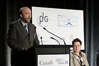 Montreal (QC) CANADA, May 22 2007-<br /> <br /> Luc Vinet, Recteur, University of Montreal speak at the<br /> Press conference of P3G (public Population Projet) in Genomics to foster harmonization genomic data collection and to share those datas.<br /> <br /> photo : (c) Pierre Roussel -  images Distribution