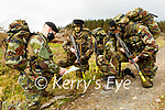 Sargent Kevin Hurley getting ready with his infantry from the Irish Defence Forces manoeuvres in Tralee. L to r:  Sargent Kevin Hurley from Tralee, Private Cathal Crotty, Private Logan Durham and Private Padraig O'Connor.