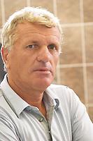 Gezim Coku, agronomist and vineyard manager. Kantina Miqesia or Medaur winery, Koplik. Albania, Balkan, Europe.
