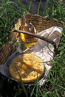 """Europe/France/Midi-Pyrénées/12/Aveyron/Rodez : Tarte au caillé de vache et à l'eau de fleur d'oranger et oranges confites - Recette du """"Vieux Pont"""""""