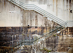 Hickson Road - High Street steps built into the cliff face, Millers Point, Sydney, NSW, Australia