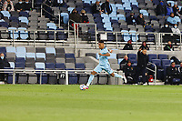 SAINT PAUL, MN - APRIL 24: Juan Agudelo #21 of Minnesota United FC with the ball during a game between Real Salt Lake and Minnesota United FC at Allianz Field on April 24, 2021 in Saint Paul, Minnesota.
