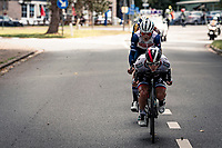 Juraj Sagan (SVK/BORA-hansgrohe tucked in in front of the breakaway group<br /> <br /> 60th De Brabantse Pijl 2020 - La Flèche Brabançonne (1.Pro)<br /> 1 day race from Leuven to Overijse (BEL/197km)<br /> <br /> ©kramon