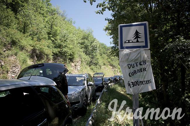 riders are warned... Dutch Corner ahead!<br /> <br /> stage 20: Modane Valfréjus - Alpe d'Huez (111km)<br /> 2015 Tour de France