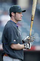Jason Conti of the Tampa Bay Devil Rays before a 2002 MLB season game against the Los Angeles Angels at Angel Stadium, in Los Angeles, California. (Larry Goren/Four Seam Images)
