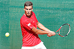 Spain's Andres Fernandez Canovas during Junior Davis Cup 2015 match. September  30, 2015.(ALTERPHOTOS/Acero)