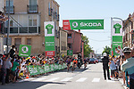 The breakaway with Angel Madrazo Ruiz and Carlos Canal (ESP) Burgos-BH and Joan Bou (ESP) Euskaltel-Euskadi during Stage 4 of La Vuelta d'Espana 2021, running 163.9km from Burgo de Osma to Molina de Aragon, Spain. 17th August 2021.    <br /> Picture: Cxcling | Cyclefile<br /> <br /> All photos usage must carry mandatory copyright credit (© Cyclefile | Cxcling)