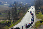 The peloton during the 112th edition of Milan-San Remo 2021, running 299km from Milan to San Remo, Italy. 20th March 2021. <br /> Photo: Bora-Hansgrohe/Luca Bettini/BettiniPhoto   Cyclefile<br /> <br /> All photos usage must carry mandatory copyright credit (© Cyclefile   Luca Bettini/BettiniPhoto/Bora-Hansgrohe)