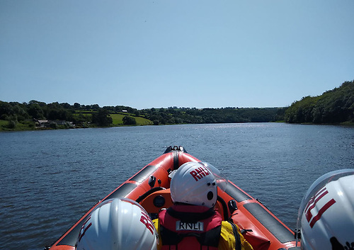Youghal RNLI's inshore lifeboat launched to a swimmer in difficulty on Sunday 18 July